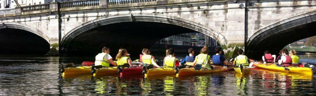 Kayaking under the bridges Cork Harbour Festival