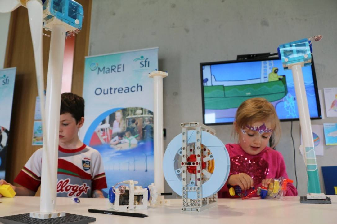Children enjoying activities at MaREI Open Day as part of Cork Harbour Festival