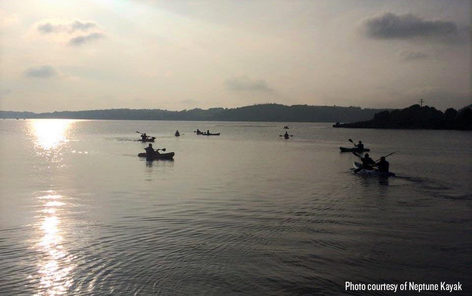 Kayakers enjoying the waters at East Cork with Neptune Kayak