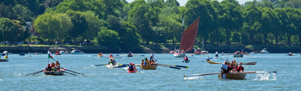 Boats in the water for Ocean to City Race Cork Harbour Festival