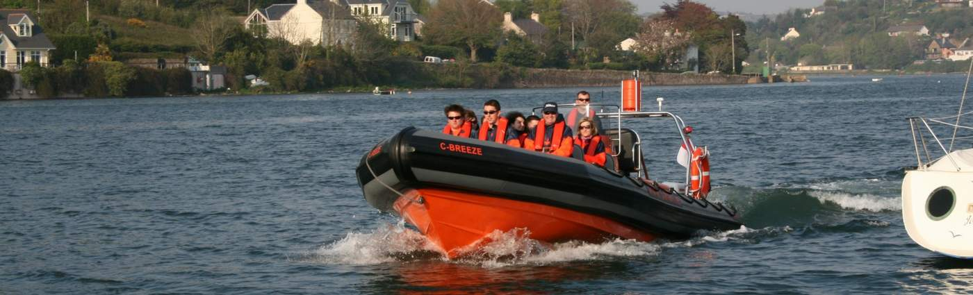 Cork Sea Safari high speed trip around the harbour as part of Cork Harbour Festival