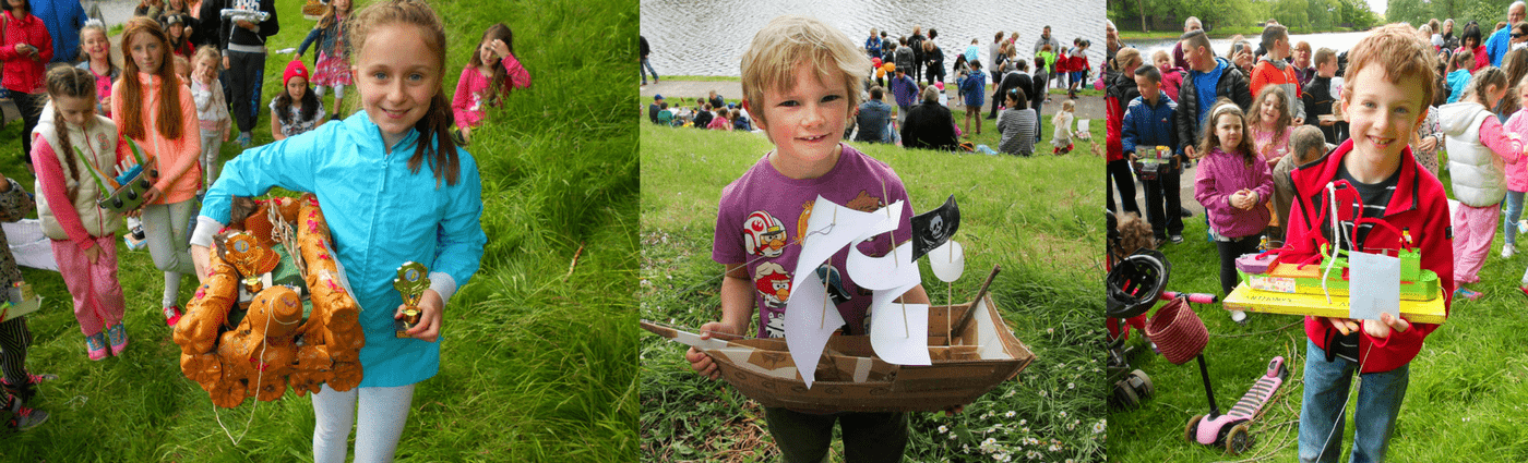 Kids model boat competition Cork Harbour Festival
