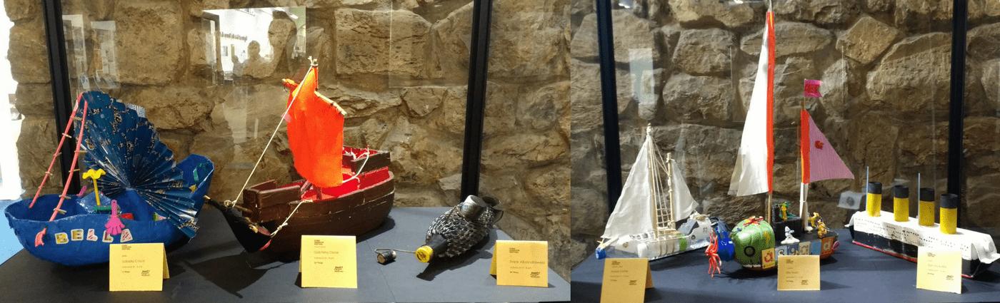 kids model boat exhibition