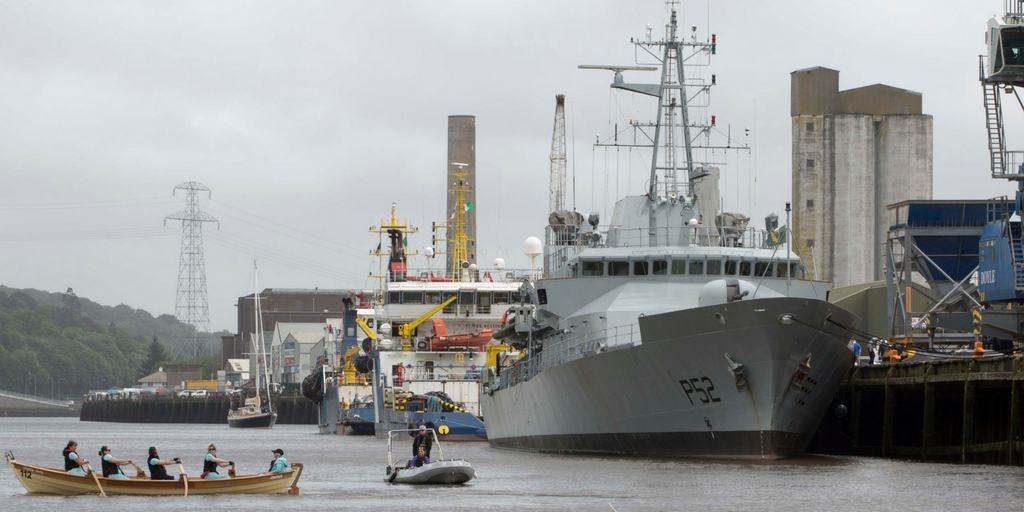 Irish Naval Vessel open day festival