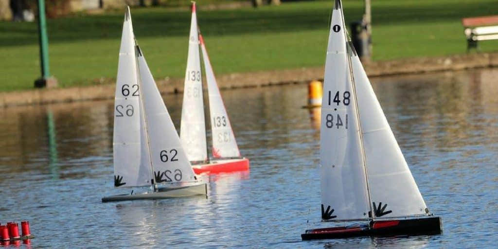 model boat open sail for Cork Harbour Festival