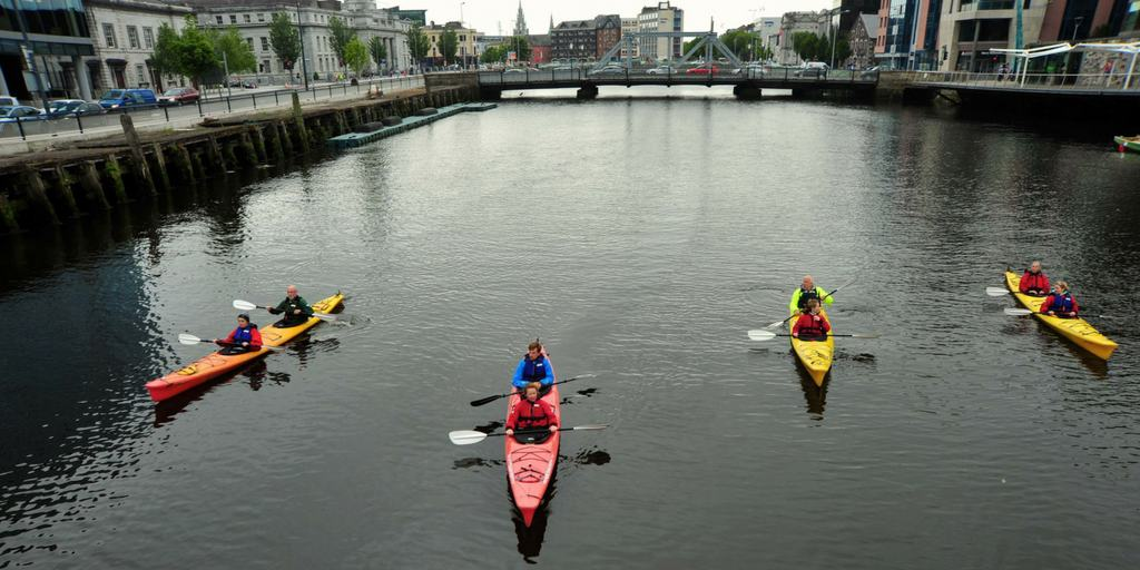 Cork Harbour Festival urban kayaking with Atlantic Sea Kayaking